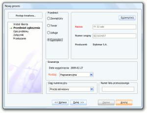 System Berberis ERP CRM BPM - kreator procesu serwisowego