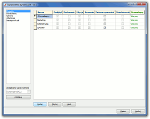 System Berberis ERP CRM BPM - określanie uprawnień dynamicznych