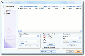 System Berberis ERP CRM BPM - kreator zobowiązania