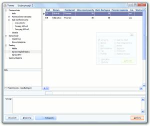 System Berberis ERP CRM BPM - lista produktów