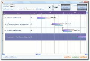 System Berberis ERP CRM BPM - diagram Gantta
