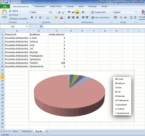 System Berberis ERP CRM BPM - raport w MS Excel